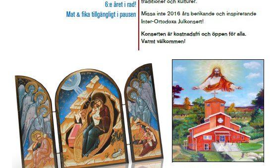 Bildas Inter-Ortodoxa Julkonsert nu på lördag