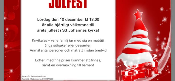 Julfest, lördag 10 december