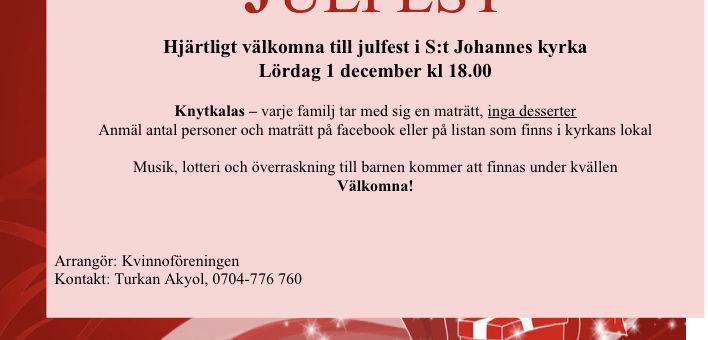 Dags för den årliga julfesten!